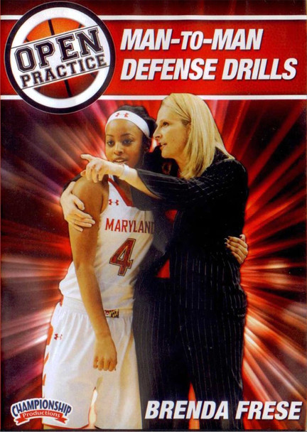 Open Practice: Man To Man Defense Drills by Brenda Frese Instructional Basketball Coaching Video