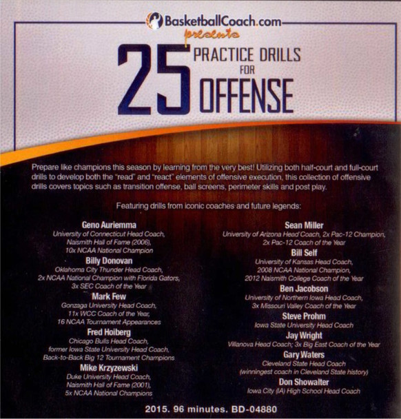 (Rental)-25 Practice Drills For Offense