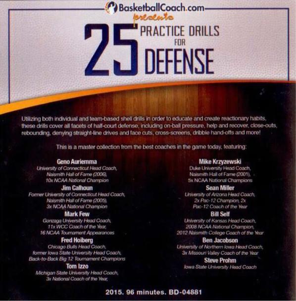 (Rental)-25 Practice Drills For Defense