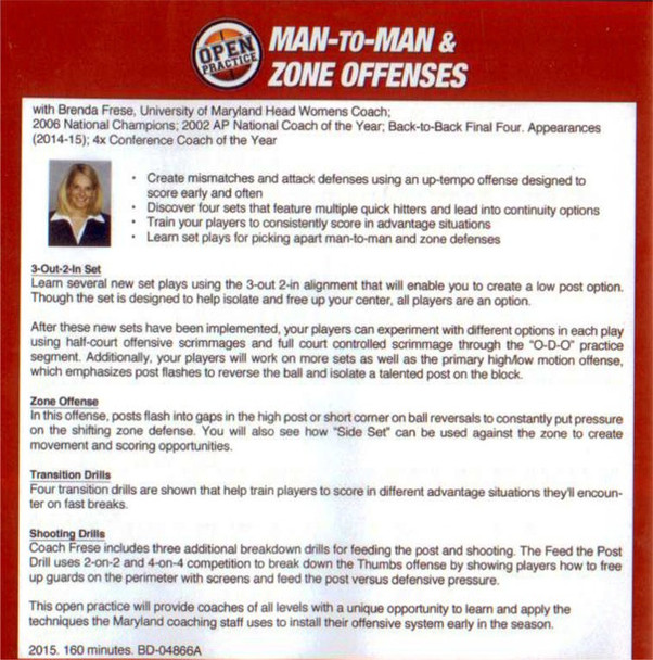 Man to Man offense in basketball with Brenda Frese