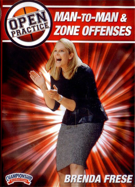 Open Practice: Man-to-man & Zone Offenses by Brenda Frese Instructional Basketball Coaching Video