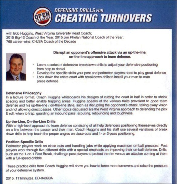 Defensive drills for creating turnovers in basketball