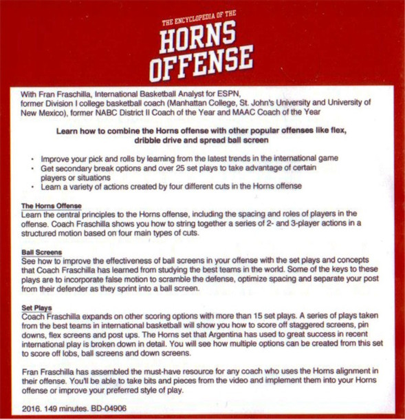 Horns Offense basketball