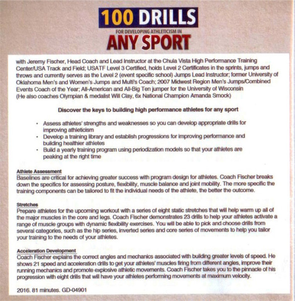 100 drills for developing athleticism in any sport