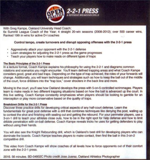 (Rental)-2-2-1 Press & Defensive Breakdown Drills