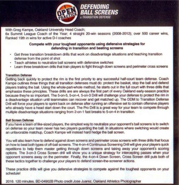 (Rental)-Defending Ball Screens
