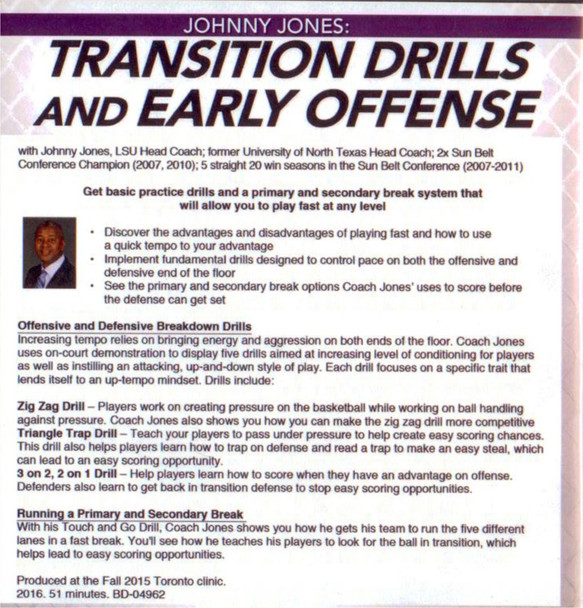 (Rental)-Transition Drills And Early Offense