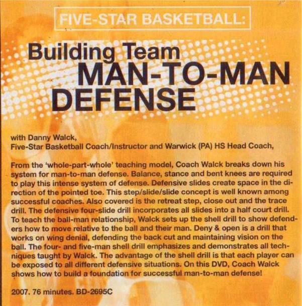 (Rental)-Building Team Man To Man Defense