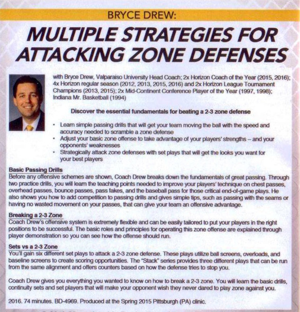 (Rental)-Multiple Strategies For Attacking Zone Defenses