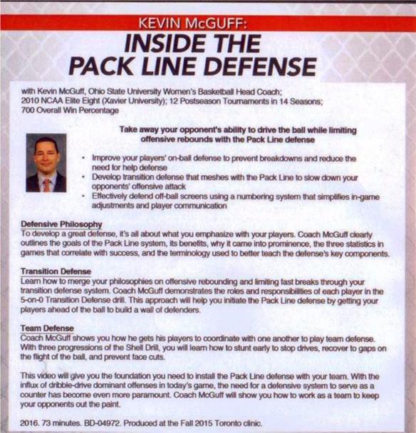 Pack Line Defense Drills DVD