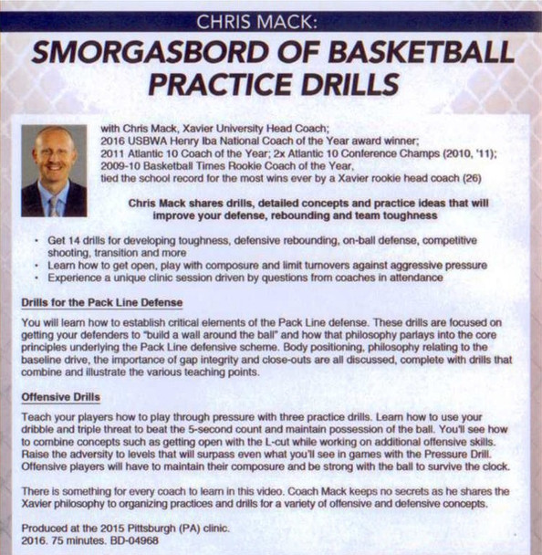 (Rental)-Smorgasbord Of Basketball Practice Drills