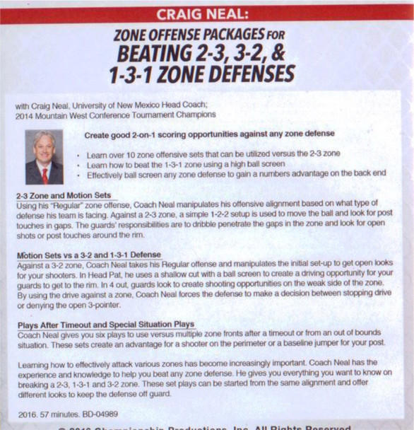 (Rental)-Zone Offense Packages For Multiple Zone Defenses