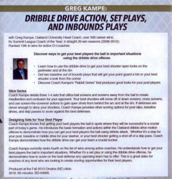 Dribble Drive Offense Set Plays
