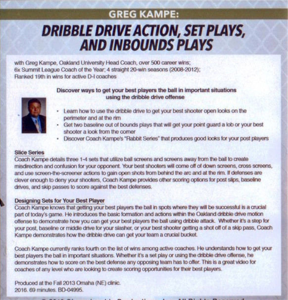 Dribble Drive Offense Set Plays