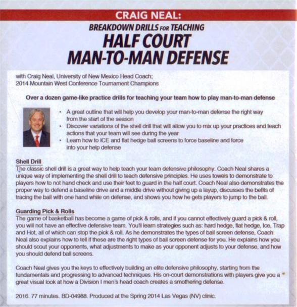 half court man to man defense video