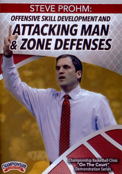 Offensive Skill Development And Attacking Man And Zone Defenses by Steve Prohm Instructional Basketball Coaching Video