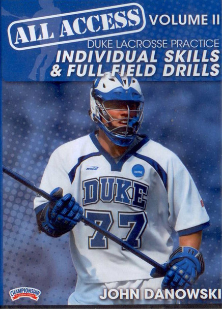 All Access Vol. 2 Duke Lacrosse Practice by John Danowski Instructional Basketball Coaching Video