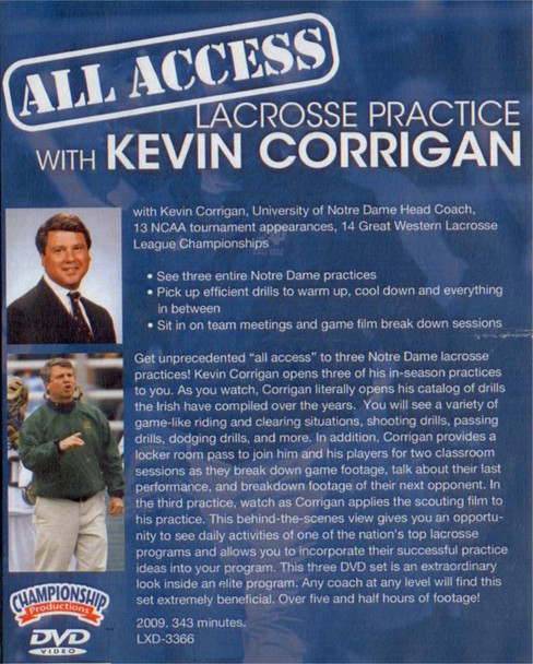 (Rental)-All Access Lacrosse Practice with Kevin Corrington