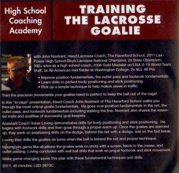 (Rental)-Training the Lacrosse Goalie