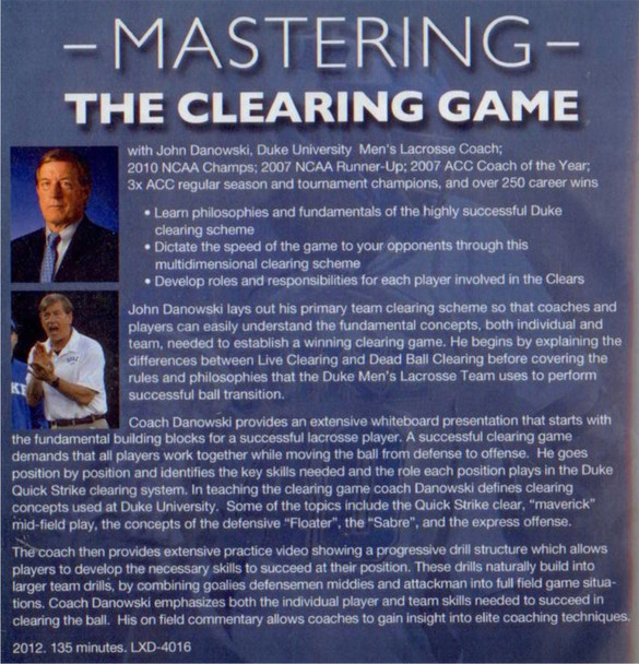 (Rental)-Mastering the Clearing Game
