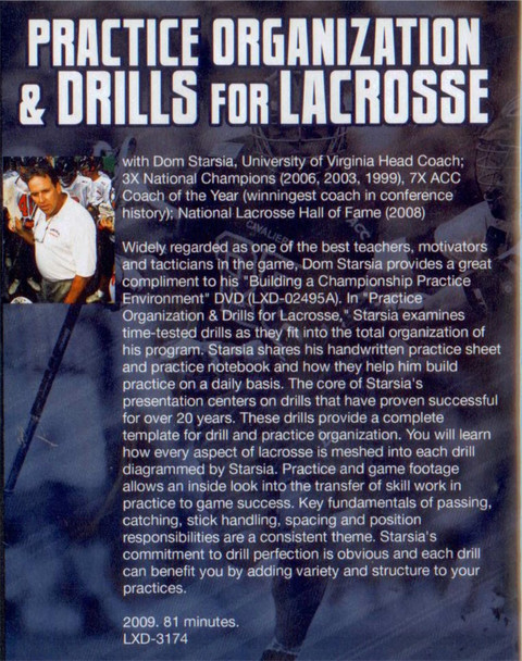 (Rental)-Practice Organization & Drills for Lacrosse