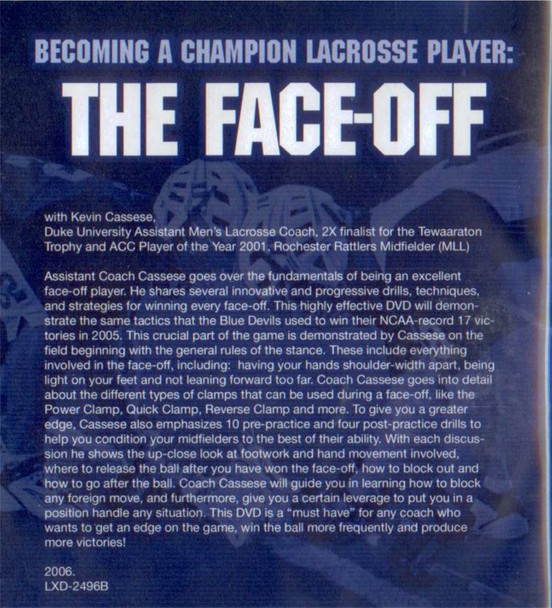 (Rental)-Becoming a Champion Lacrosse Player: The Face-Off