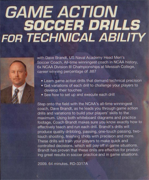 (Rental)-Game Action Soccer Drills for Technical Ability