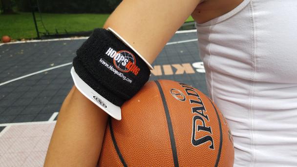 Bulls Eye Basketball Armband - up close