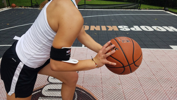 Bulls Eye Basketball Armband - about to shoot