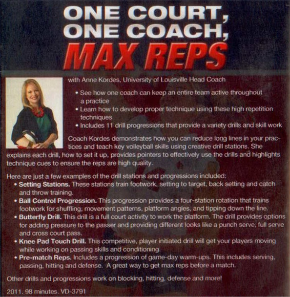 (Rental)-ONE COURT, ONE COACH, MAX REPS