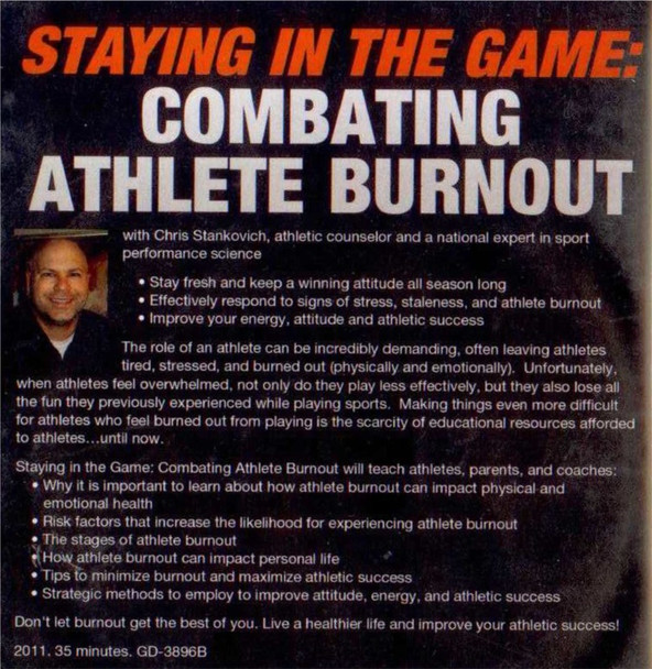 (Rental)-Staying In The Game: Combating Athlete Burnout (stankovich)