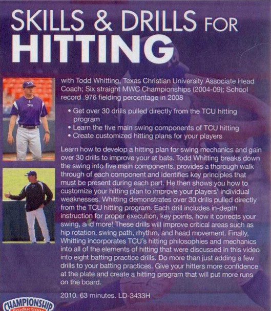 (Rental)-SKILLS AND DRILLS  FOR HITTING