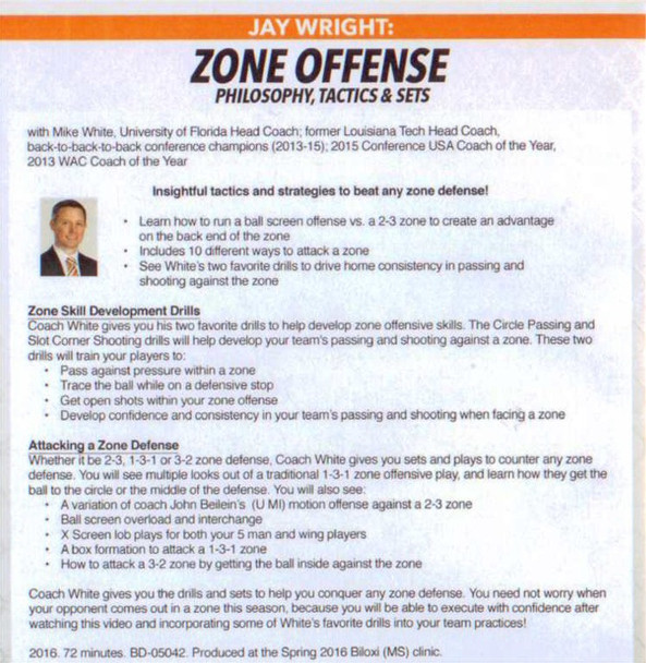 zone offense sets tips drills