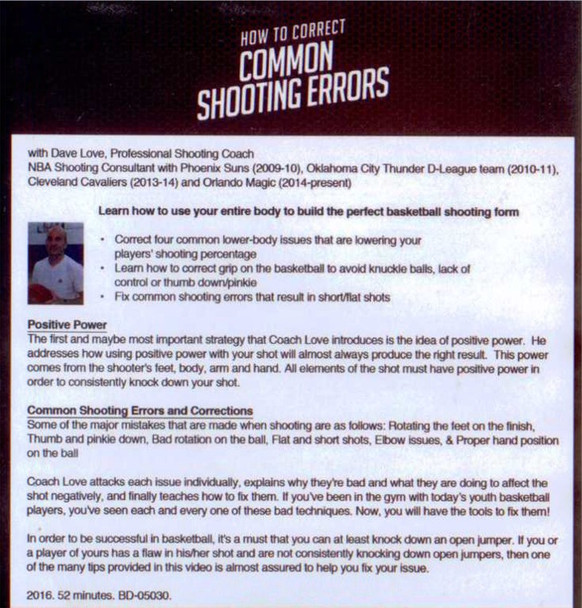 (Rental)-How To Correct Common Shooting Errors