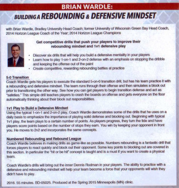 building a defensive mindset and rebounding drills
