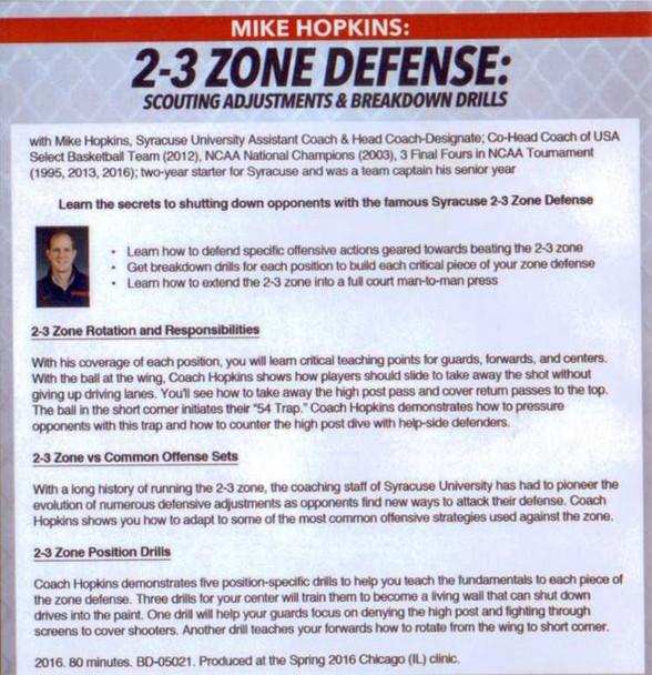 (Rental)-2-3 Zone Defense Scouting Adjustments & Breakdown Drills