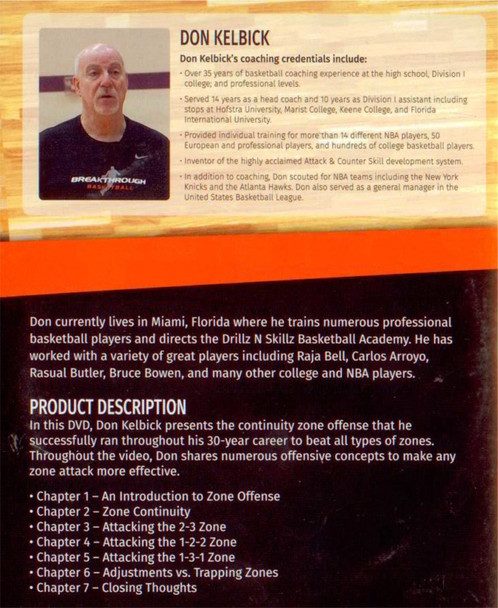 (Rental)-Continuity Zone Offense & Concepts To Beat Any Zone Defense