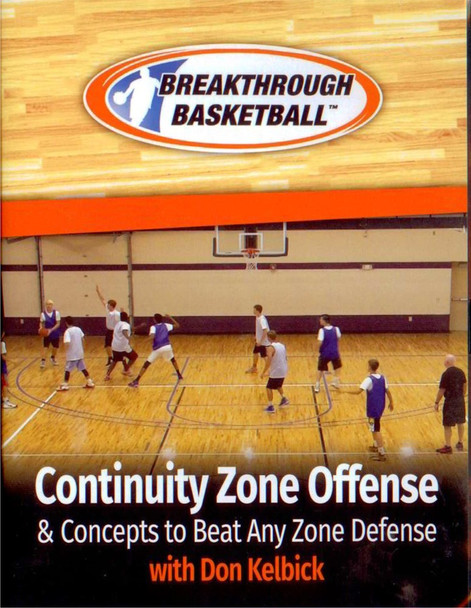 Continuity Zone Offense & Concepts To Beat Any Zone Defense by Don Kelbick Instructional Basketball Coaching Video