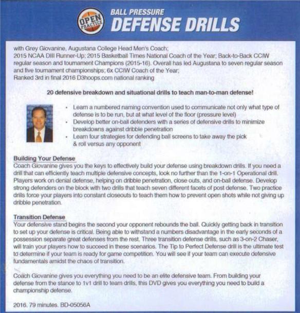 (Rental)-Ball Pressure Defense Drills