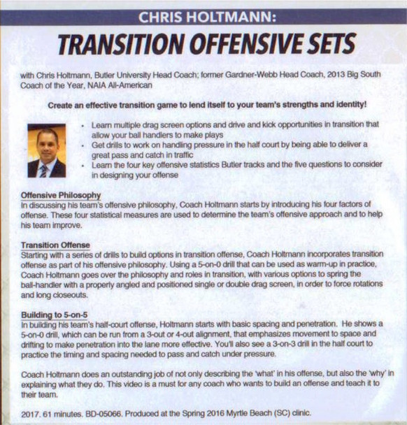 (Rental)-Transition Offensive Sets