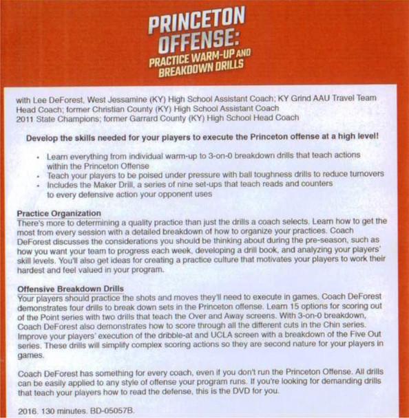 Princeton Offense Drills