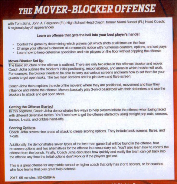mover blocker offense basketball