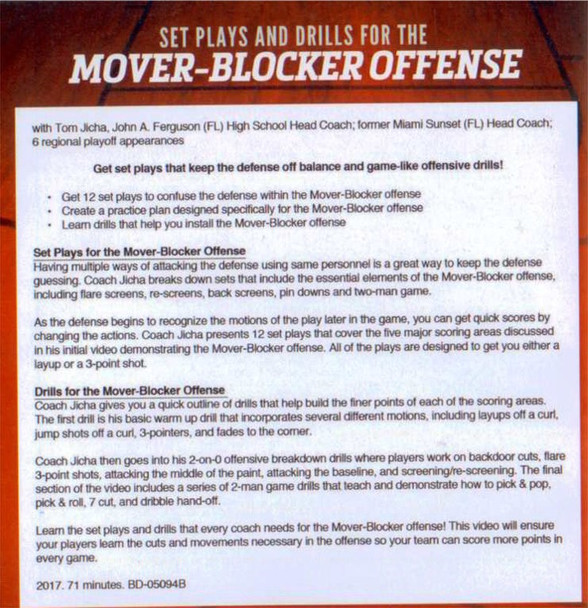 mover blocker offense drills