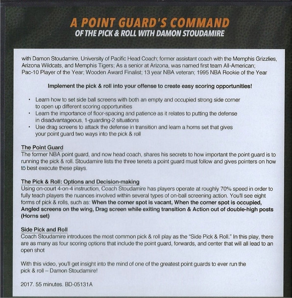 (Rental)-Point Guard's Command Of The Pick & Roll