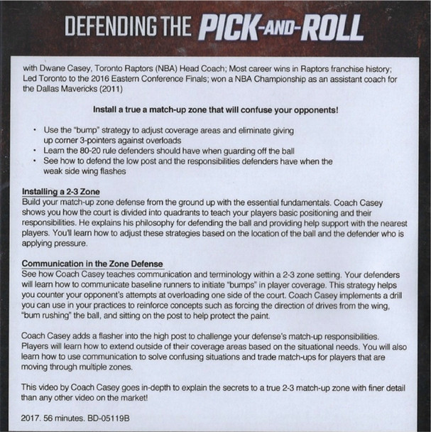 Defending the pick and roll middle & side video