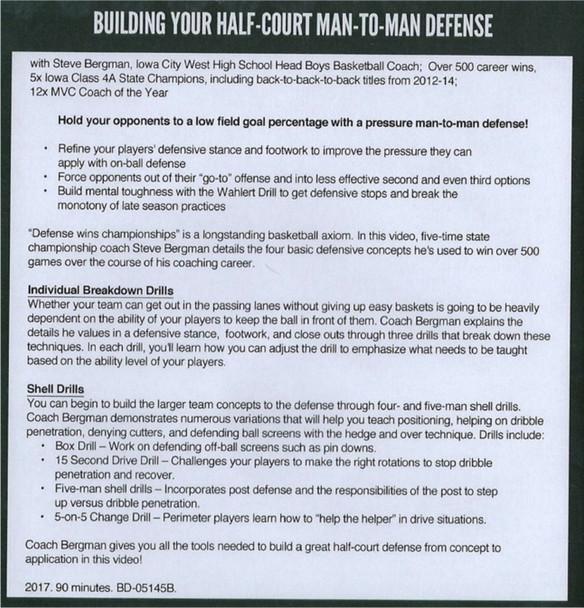 Building Your Half-Court Man-to-Man Defense