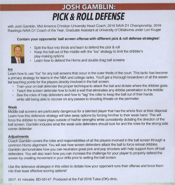 (Rental)-Pick & Roll Defense