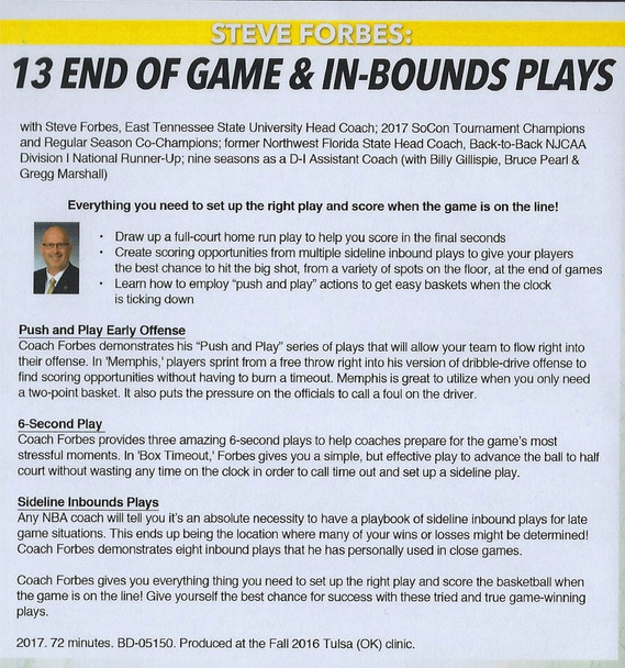 (Rental)-13 End Of Game & In Bound Plays