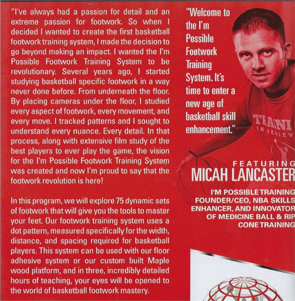 (Rental)-Footwork Training System With Michal Lancaster