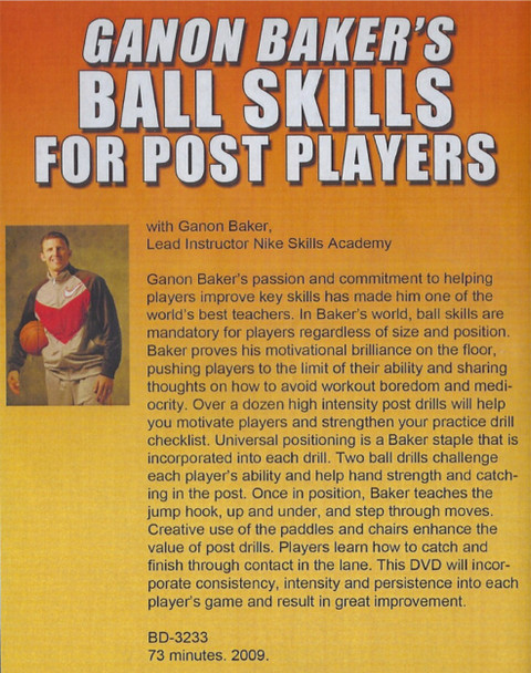 (Rental)-Ganon Baker's Ball Skills For Post Players